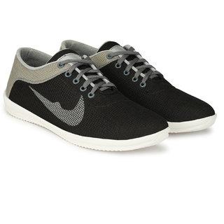 Layasa Mens Grey Lace-up Smart Casual Shoes