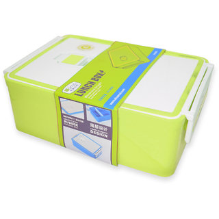 Homio BPA-Free Plastic Lunch Box-Insulated Airtight and Leak Proof (Green)