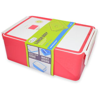 Homio BPA-Free Plastic Lunch Box-Insulated Airtight and Leak Proof (Red)