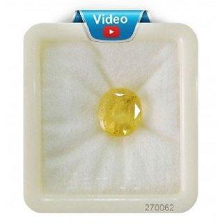 Barmunda gems 7.25 ratti Yellow Sapphire Ceylon Quality Pukhraj Gemstone