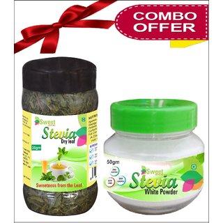 Sweet And Healthy Stevia Dry Leaves - Natural Stevia Powder - Stevia Combo Pack