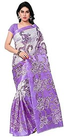 SVB Multicolor Art silk Printed Saree (Without Blouse)