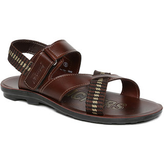 Paragon Men'S Dark Brown Sandals