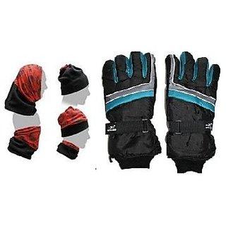 Combo Pro Liner Winter Gloves+ Buff Headwear