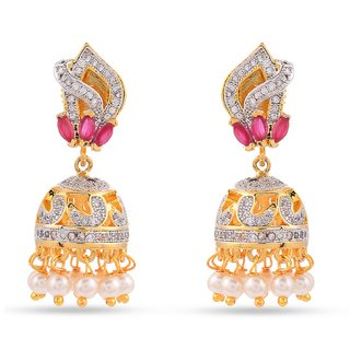Tistabene Retails Contemporary American Diamonds Stylish Party Wear Jhumki Earring For Women And Girls (ER-1015)