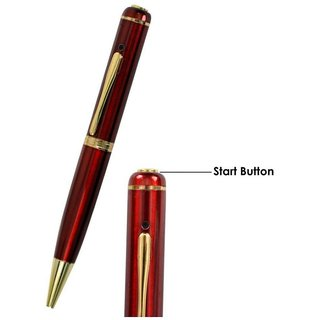 32 GB INBUILT MEMORY RED SPY PEN HIDDEN CCTV HD VISION BETTER THAN KEY CHAIN 27 BUTTON WATCH DIGITAL AUDIO VIDEO RECORDE