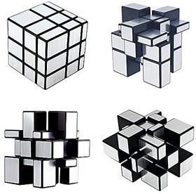 Puzzle Magic Mirror Rubik Cube-Sliver Plastic
