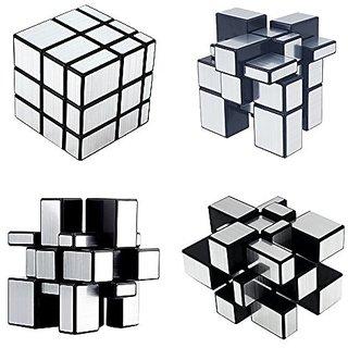 Puzzle Magic Mirror Rubik Cube-Sliver Plastic