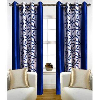 Avi Trendz kolaveri blue window curtains set of 2(4x5)