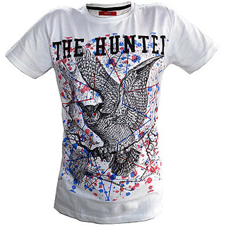 OurLook Men`s Hunter Printed T-Shirt - White