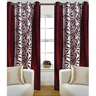 Avi Trendz kolaveri marron window curtains set of 2(4x5)