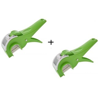 Chefzone Green Vegetable Cutter Set Of 2 Pcs