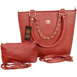 Anemone Shoulder Bags with pouch (Brown)