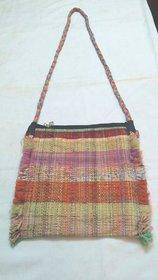 Recyled handloom sling bag