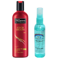 Pink Root Hair Serum (100ml) with TRESemme Keratin Smooth for Straightner and Smoother Hair Shampoo Pack of 2