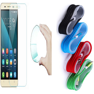 Motorola Moto X 03mm Curved Edge HD Flexible Tempered Glass with Nylon Micro USB Cable
