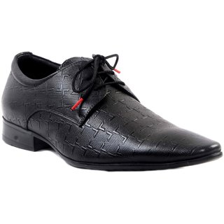 Hitz MenS Black Lace-Up Formal Shoes