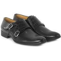 Shoegaro Men'S Black Monk Strap Formal Shoes