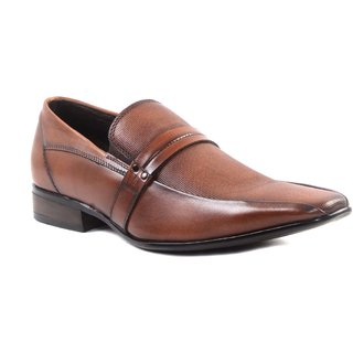 Hitz MenS Tan Slip On Formal Shoes