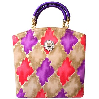 Trendy cotton Silk Bag Marriage Women Purse Party Return Gift Indian Ethnic 641836f7bf2c5