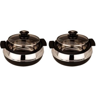 Insulated Casserole Glasserol (800 ml each Twin Set) - JAYPEE