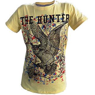 OurLook Men`s Hunter Printed T-Shirt - Yellow