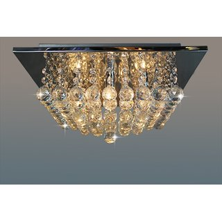 Modern Fixture Ceiling Light Lighting Crystal Pendant Chandelier square
