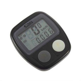 New Arrival 1Pc Waterproof Digital LCD Bike Computer Cycle Bicycle Speedometer Odometer 14 Functions