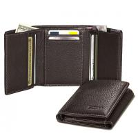 Three fold leatherite wallet for men womens