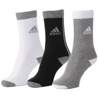 Adidas Multicolour Cotton Full Length Socks - 3 Pairs