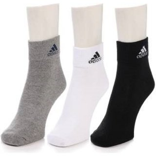 Adidas Multicolour Cotton Ankle Length Socks   3 Pairs Socks