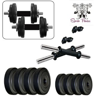 SPORTO FITNESS  8Kg Combo4-WB Home Gym  Fitness Kit