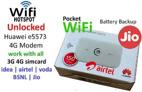 UNLOCKED Airtel E5573-609 4g Wifi Router  SUPPORT 4g/3g/2g SIM Wifi Share Up To 8 Devics