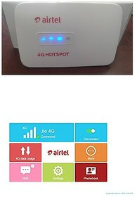Airtel 4g Hotspot Unlocked Works with Any 4g/3g/2g Networks Usb Wired + Wifi Supported (MW40CJ)