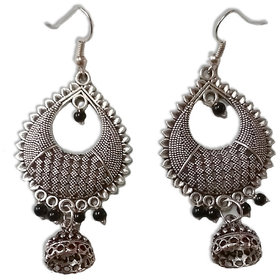 Silver oxidised earrings