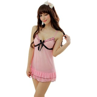 b0129a31ff Aa Enterprise Honeymoon Lingerie for Women Ladies Girls Nightwear Net  babydoll dress with G