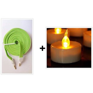 Diwali Exclusive Flat A colorful  Aux Wire  + Free Diya ( To light your Life )