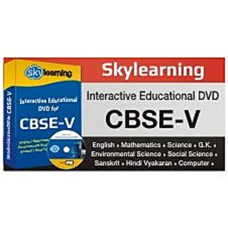 CBSE Class 5 CD/DVD Combo Pack English, Math, Science, Hindi Vyakaran, Computer