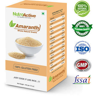 NutroActive Amaranth Whole Natural Grains (Rajgira), Gluten Free 340 gm