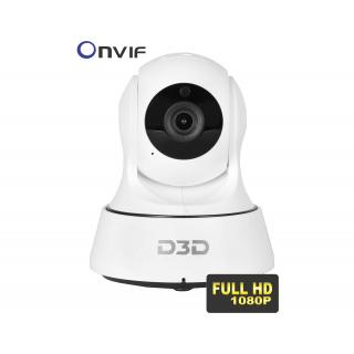 D3D Wireless WiFi HD IP indoor Security Camera with Night Vision motion detection. Model - D6022W