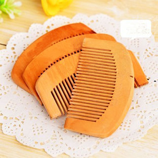 PRO365 Elegant Wooden Hair Comb Comfort Grip SET OF 5