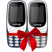 Combo Of Gfive Guru 3310 Blue+Grey (1.8 Inch,Dual Sim,