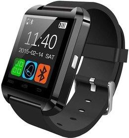 Omkart U8 Bluetooth Smartwatch  (Black Strap)