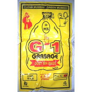 G-1 Garbage Bags Medium 19 X 21 300 Pcs (Pack of 10)