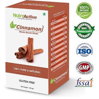 NutroActive Cinnamon Whole Round Sticks 100 gm, Dalchini Sticks