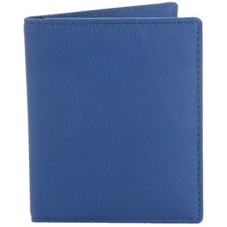 Men's GENUINE  Leather  blue travel wallet  Detail BY PAVO FASHION