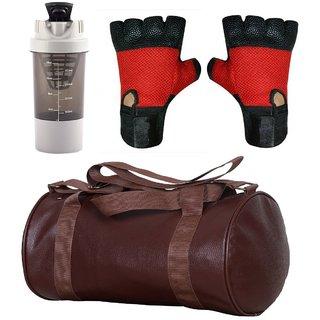 Buy CP Bigbasket Combo Set Leather Soft Gym Bag (Brown) 18b8c9ef8bcd2