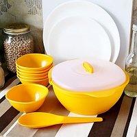Pudding Set( 1 Casserole With Lid, 6 Bowls , 1 Spatula) (TG 39)