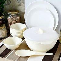 Pudding Set( 1 Casserole With Lid, 6 Bowls , 1 Spatula) (TG 40)