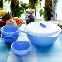 Pudding Set( 1 Casserole With Lid, 6 Bowls , 1 Spatula) (TG 41)